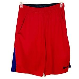 Men's Nike Red Basketball Style Athletic Shorts